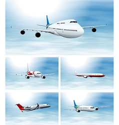 Scenes with airplane in the sky vector image