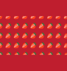 seamless pattern strawberrys virtual vector image
