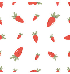 Seamless pattern with carrots different sizes vector