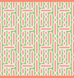 Seamless pattern with lines and dots simple retro vector