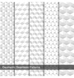 Set geometric seamless patterns vector