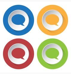 set of four icons - speech bubbles vector image