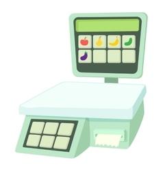 Shop scale icon cartoon style vector
