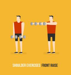 Shoulder exercises front raise vector