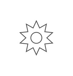 sun related line icon vector image