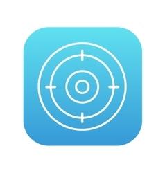 Target board line icon vector image