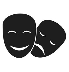 theater masks icons vector image