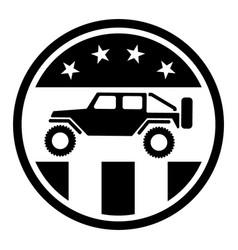 usa off road 4wd logo vector image