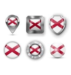 USA State Flag Badges vector image