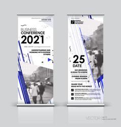 vertical banner design signboard advertising vector image