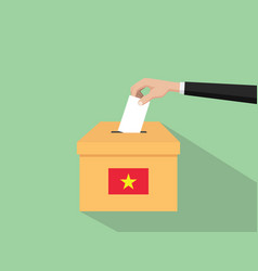 vietnam vote election concept with vector image