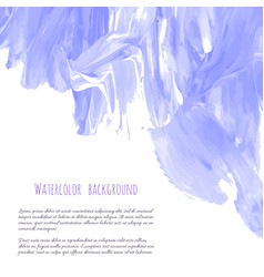 Violet purple lilac grunge marble watercolor vector