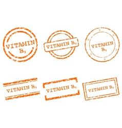 Vitamin B9 stamps vector image
