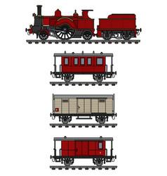 Vvintage steam train vector