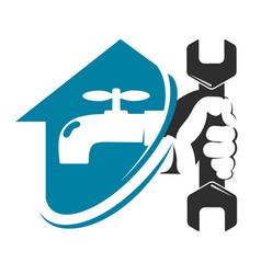 water faucet and house plumbing repair vector image