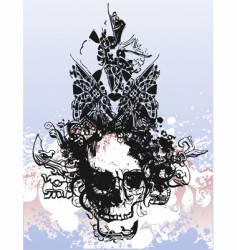 Witch skull grunge illustration vector