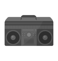 Boombox icon in monochrome style isolated on white vector image