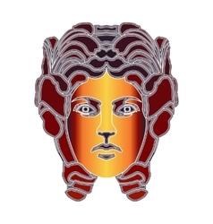 Bright woman portrait zodiac Virgo sign vector image