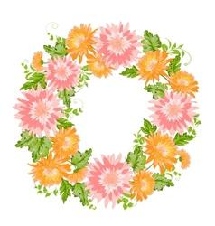 Chrysanthemum garland composition vector image