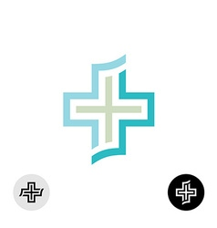 Cross logo vector