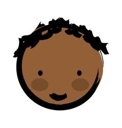 happy boy drawn isolated icon design vector image vector image