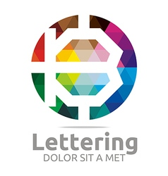 lettering b rainbow alphabet icon vector image vector image
