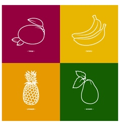 MangoBananaPineappleAvocado vector image