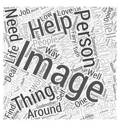 Should I get An Image Consultant Word Cloud vector image vector image