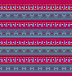 festive seamless striped background with snow vector image