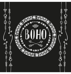 Hand drawn sign in boho style vector image