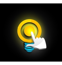 Idea icon vector image vector image