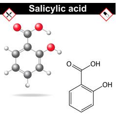 Salicylic acid vector image