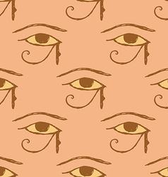 Sketch Osiris eye in vintage style vector image vector image