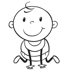 Baby outline vector image vector image