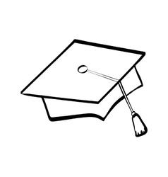 graduation cap icon University design vector image vector image