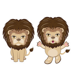 lion sitting pose vector image vector image