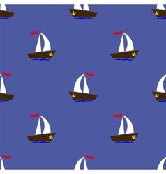 Sea ships silhouettes vector
