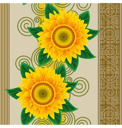 seamless sunflowers vector image vector image