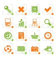 stylized internet and web site icons vector image