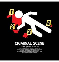 Criminal Scene vector image vector image