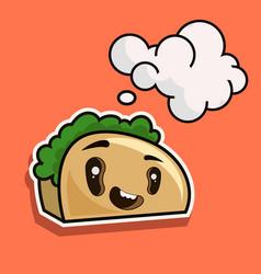 cute toast bread cartoon character isolated on vector image