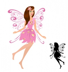 fairy girl with flowers vector image vector image