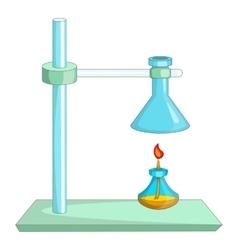 Laboratory equipment icon cartoon style vector