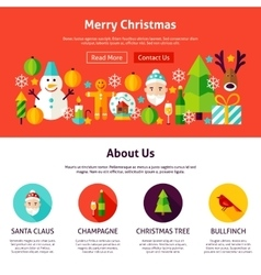 Merry Christmas Website Design vector image vector image