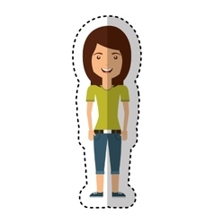 young woman casual style vector image