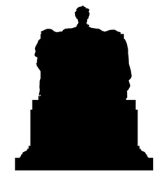 Abraham Lincoln Memorial Statue Silhouette vector image
