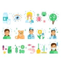 Allergy set vector