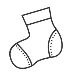 baby sock icon vector image