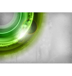 background green light corner round with stars vector image