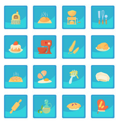 Bakery icon blue app vector